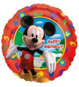 Fóliový balónek Mickey Mouse Happy Birthday, kulatý, 45 cm
