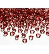 Diamant konfety bordo 1,2 cm, 100 ks